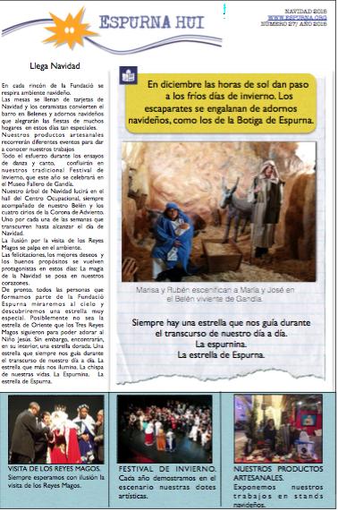 Revista Espurna Hui Navidad 2015