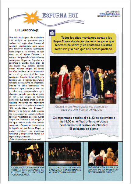 Revista Espurna Hui Navidad 2016